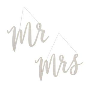 Mr. & Mrs. / Mr. & Mr. / Mrs. & Mrs. Aufhänger für die Hochzeit